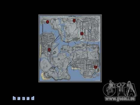 Carte dans le style de GTA 5 pour GTA San Andreas deuxième écran