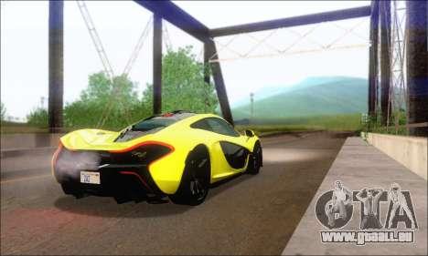 McLaren P1 EPM pour GTA San Andreas vue de droite