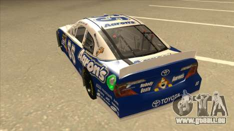 Toyota Camry NASCAR No. 55 Aarons DM blue-white pour GTA San Andreas vue arrière