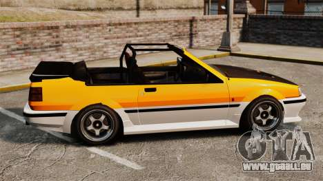 Version cabriolet de Futo pour GTA 4 est une gauche