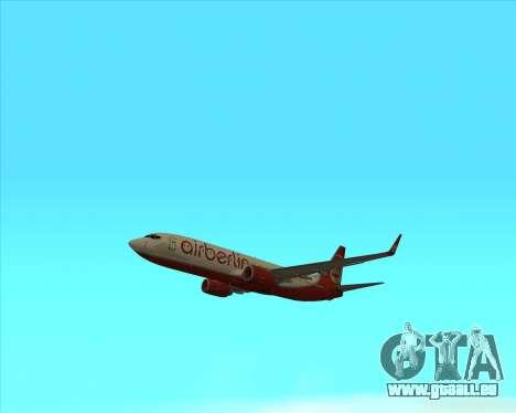 Boeing 737-800 pour GTA San Andreas vue de droite