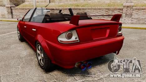 Version cabriolet du premier ministre tuning pour GTA 4 Vue arrière de la gauche