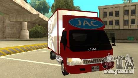 JAC 1040 pour GTA San Andreas laissé vue