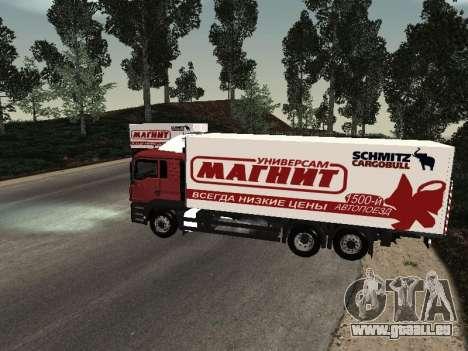 MAN TGA 26350 Magnet für GTA San Andreas linke Ansicht
