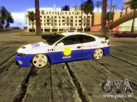 Pontiac GTO Pursit Edition pour GTA San Andreas sur la vue arrière gauche