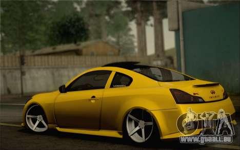 Infiniti G37 IPL pour GTA San Andreas roue
