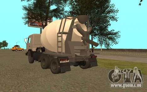 Camions KAMAZ 53115 pour GTA San Andreas sur la vue arrière gauche