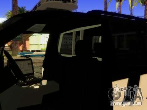 Ford Explorer 2010 Police Interceptor pour GTA San Andreas vue de côté