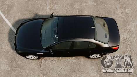 BMW M5 E60 Metropolitan Police Unmarked [ELS] für GTA 4 rechte Ansicht