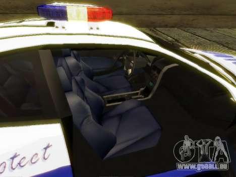 Pontiac GTO Pursit Edition pour GTA San Andreas vue arrière