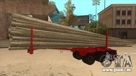 2-Nd-Holz-Träger zu Hayes H188 für GTA San Andreas zurück linke Ansicht