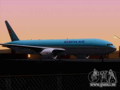 Boeing 777-2B5ER Korean Air für GTA San Andreas Unteransicht