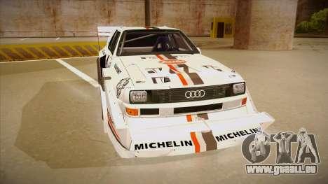 Audi Quattro S1 Pikes Peak pour GTA San Andreas laissé vue