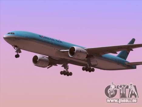 Boeing 777-2B5ER Korean Air für GTA San Andreas rechten Ansicht