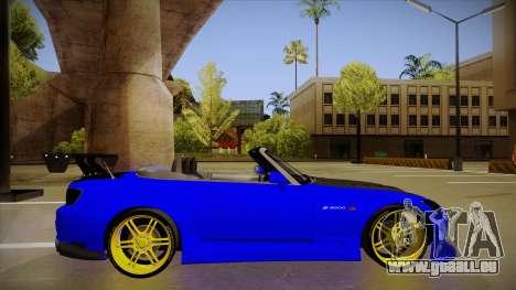 Honda S2000 C-West pour GTA San Andreas sur la vue arrière gauche