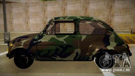 Zastava 750 Camo pour GTA San Andreas sur la vue arrière gauche