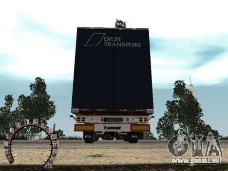 Remorque pour Kamaz 54115 pour GTA San Andreas vue arrière