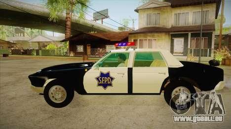 Fasthammer Police SF für GTA San Andreas linke Ansicht