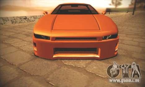 Infernus One pour GTA San Andreas sur la vue arrière gauche