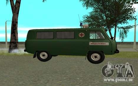 UAZ 452 ambulance pour GTA San Andreas laissé vue