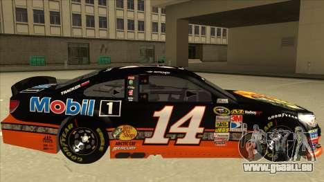 Chevrolet SS NASCAR No. 14 Mobil 1 Bass Pro Shop pour GTA San Andreas sur la vue arrière gauche