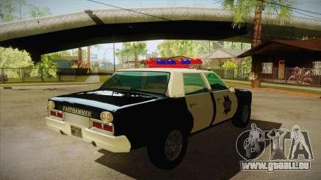 Fasthammer Police SF pour GTA San Andreas vue de droite