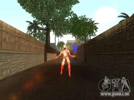 Impact de l'homme de fer sur la terre pour GTA San Andreas