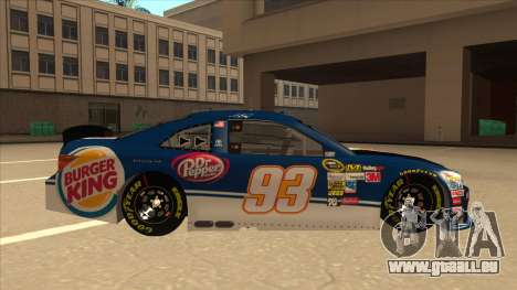 Toyota Camry NASCAR No. 93 Burger King Dr Pepper für GTA San Andreas zurück linke Ansicht