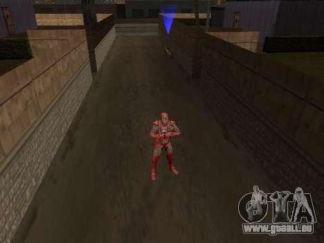 Impact de l'homme de fer sur la terre pour GTA San Andreas deuxième écran