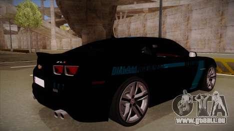 Chevrolet Camaro ZL1 2012 RCPD V1.0 für GTA San Andreas rechten Ansicht