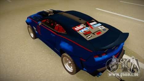 Chevrolet Camaro ZL1 Elite pour GTA San Andreas vue arrière