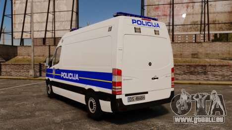 Mercedes-Benz Sprinter Croatian Police v2 [ELS] pour GTA 4 Vue arrière de la gauche