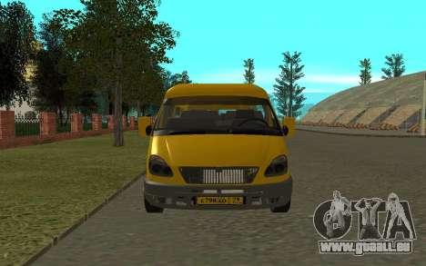 Gazelle 3221 pour GTA San Andreas vue arrière
