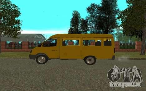 Gazelle 3221 pour GTA San Andreas laissé vue