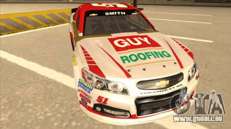 Chevrolet SS NASCAR No. 51 Guy Roofing für GTA San Andreas linke Ansicht