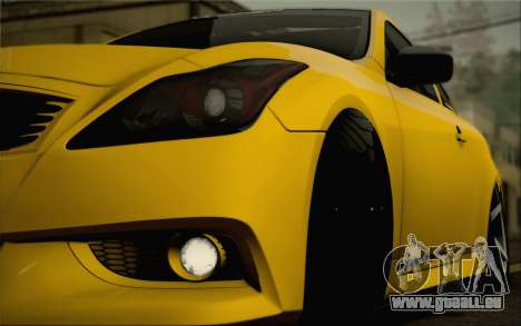 Infiniti G37 IPL pour GTA San Andreas moteur