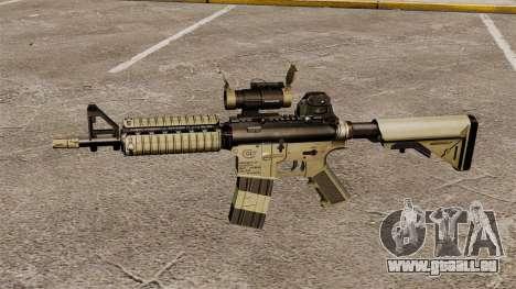 Automatique carabine M4 CQBR v1 pour GTA 4 troisième écran