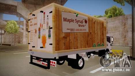 Chevrolet FRR Maple Syrup World für GTA San Andreas zurück linke Ansicht