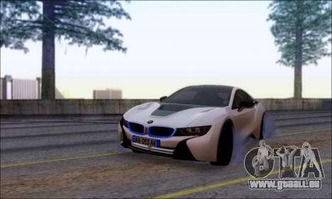BMW I8 für GTA San Andreas Rückansicht