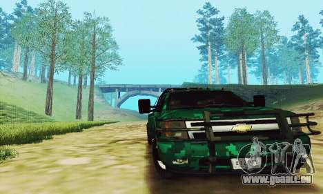 Chevrolet Silverado 3500 Military pour GTA San Andreas laissé vue