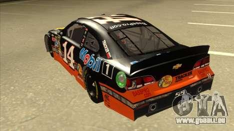 Chevrolet SS NASCAR No. 14 Mobil 1 Bass Pro Shop für GTA San Andreas Rückansicht