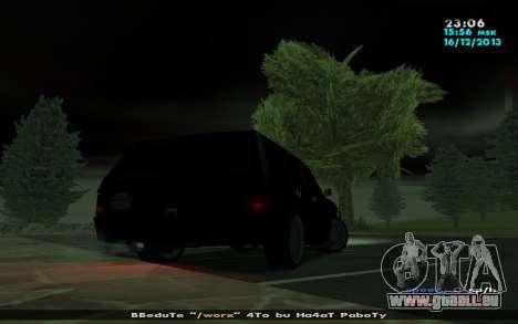 Huntley Mp-Bandit für GTA San Andreas zurück linke Ansicht