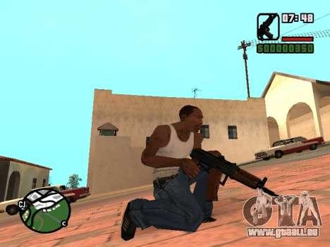 AKS-74U mm für GTA San Andreas dritten Screenshot