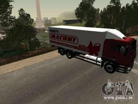 MAN TGA 26350 Magnet für GTA San Andreas rechten Ansicht