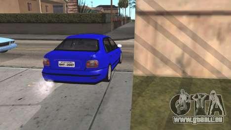 Fiat Marea Sedan für GTA San Andreas zurück linke Ansicht