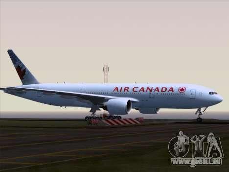 Boeing 777-200ER Air Canada für GTA San Andreas Rückansicht