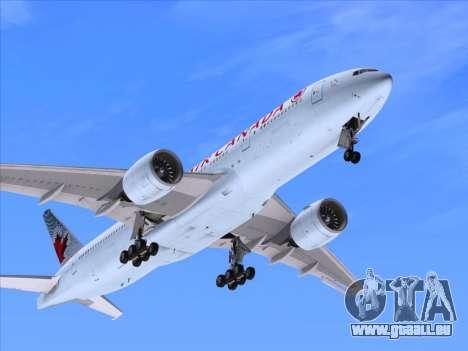 Boeing 777-200ER Air Canada für GTA San Andreas obere Ansicht