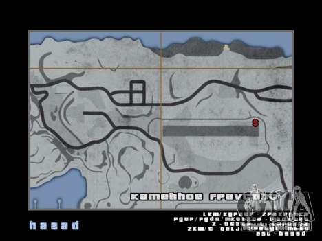 Carte dans le style de GTA 5 pour GTA San Andreas sixième écran