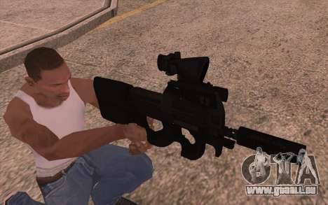 P90 AEG avec lampe de poche pour GTA San Andreas deuxième écran