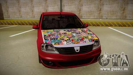 Dacia Logan Hellaflush pour GTA San Andreas laissé vue